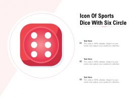 Icon Of Sports Dice With Six Circle