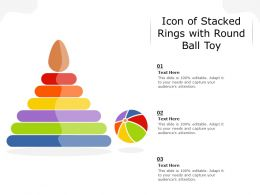 Icon Of Stacked Rings With Round Ball Toy