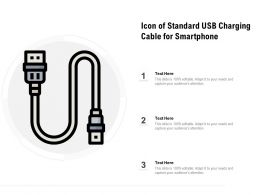 Icon Of Standard Usb Charging Cable For Smartphone