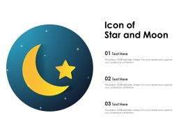 Icon Of Star And Moon
