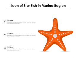 Icon Of Star Fish In Marine Region
