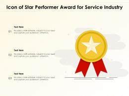 Icon Of Star Performer Award For Service Industry