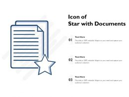 Icon Of Star With Documents