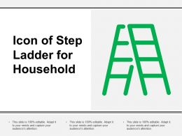 Icon Of Step Ladder For Household