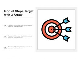 Icon Of Steps Target With 3 Arrow