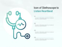 Icon Of Stethoscope To Listen Heartbeat