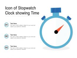 Icon Of Stopwatch Clock Showing Time