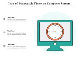 Icon Of Stopwatch Timer On Computer Screen