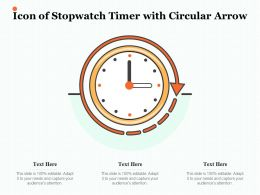 Icon Of Stopwatch Timer With Circular Arrow