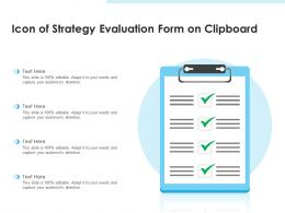 Icon Of Strategy Evaluation Form On Clipboard