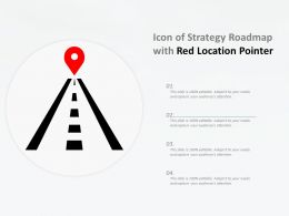Icon Of Strategy Roadmap With Red Location Pointer