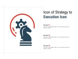 Icon Of Strategy To Execution Icon