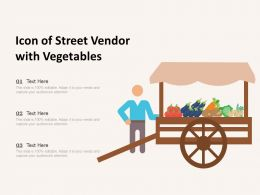 Icon Of Street Vendor With Vegetables