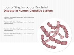 Icon Of Streptococcus Bacterial Disease In Human Digestive System