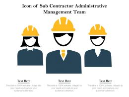 Icon Of Sub Contractor Administrative Management Team