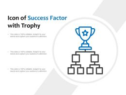 Icon Of Success Factor With Trophy