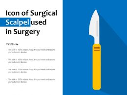 Icon Of Surgical Scalpel Used In Surgery