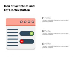 Icon Of Switch On And Off Electric Button