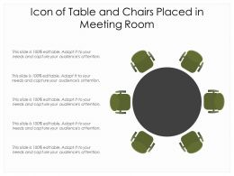 Icon Of Table And Chairs Placed In Meeting Room