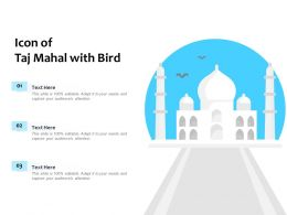 Icon Of Taj Mahal With Bird
