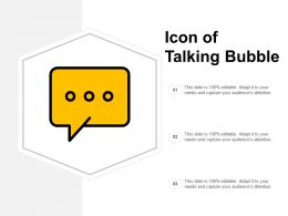 Icon Of Talking Bubble
