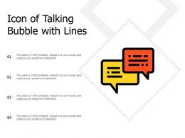Icon Of Talking Bubble With Lines