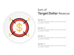 Icon Of Target Dollar Revenue