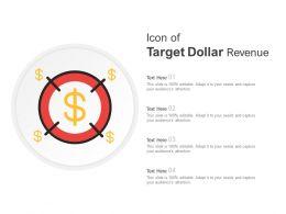 Icon Of Target Dollar Revenue