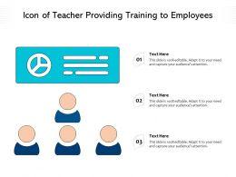 Icon Of Teacher Providing Training To Employees