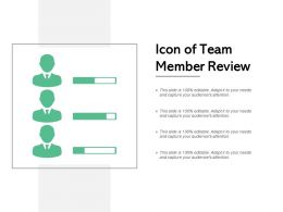Icon Of Team Member Review