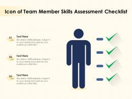 Icon Of Team Member Skills Assessment Checklist
