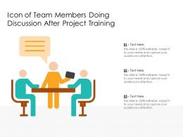 Icon Of Team Members Doing Discussion After Project Training