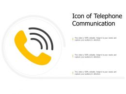 Icon Of Telephone Communication