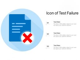 Icon Of Test Failure