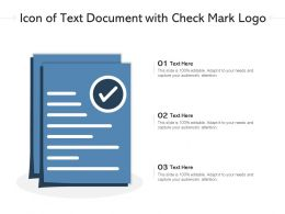 Icon Of Text Document With Check Mark Logo