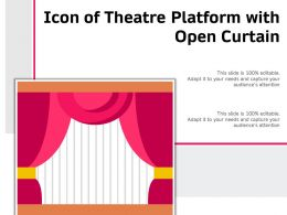 Icon Of Theatre Platform With Open Curtain