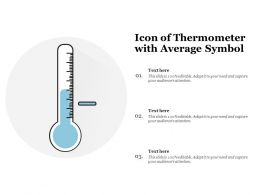 Icon Of Thermometer With Average Symbol