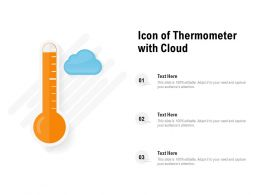 Icon Of Thermometer With Cloud