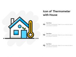 Icon Of Thermometer With House