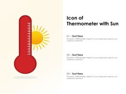 Icon Of Thermometer With Sun
