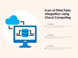 Icon Of Third Party Integration Using Cloud Computing