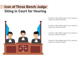 Icon Of Three Bench Judge Siting In Court For Hearing