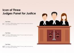 Icon Of Three Judges Panel For Justice