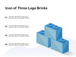 Icon Of Three Lego Bricks
