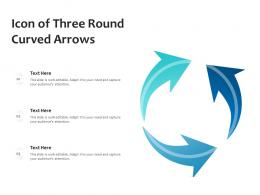 Icon Of Three Round Curved Arrows