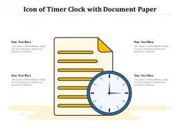 Icon Of Timer Clock With Document Paper