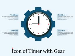 Icon Of Timer With Gear
