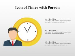 Icon Of Timer With Person