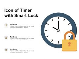 Icon Of Timer With Smart Lock