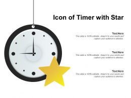 Icon Of Timer With Star